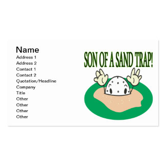 Son Of A Sand Trap Pack Of Standard Business Cards