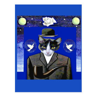 Son of Cat - Magritte Parody Post Card