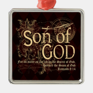 Son of God, Romans 8:14 Christian Silver-Colored Square Decoration