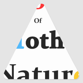 Son Of Mother Nature Triangle Sticker