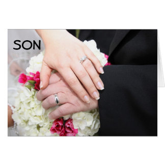"***SON*** ON WEDDING DAY"" WISHING YOU HAPPINESS GREETING CARD"