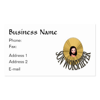 Son Worshipper Pack Of Standard Business Cards