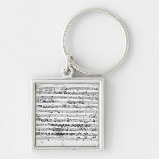 Sonate Premiere for violin and harpsichord Silver-Colored Square Key Ring