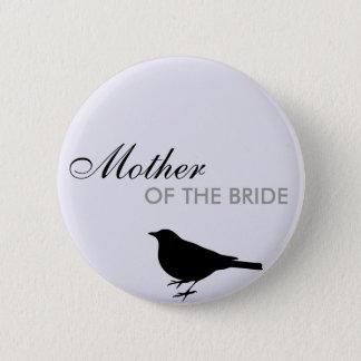Song bird lilac purple wedding name tag badge pin