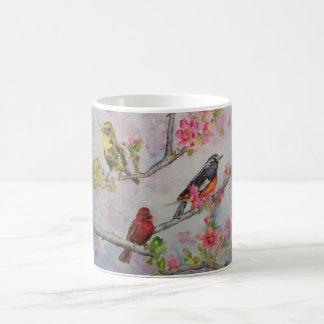 Song Birds Watercolor Art Classic Mug