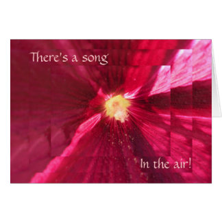 Song In The Air Hollyhock Christmas Card