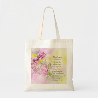 Song of Solomon 2:12 Flowers appear on the earth Tote Bag