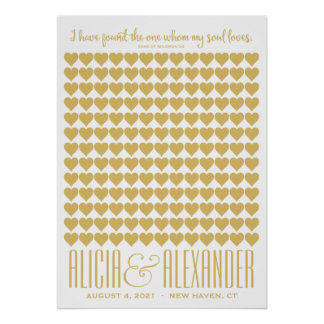 Song of Solomon   Champagne Gold Custom Guestbook Poster