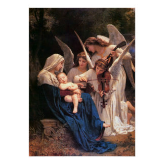Song of the Angels Bouguereau Fine Art Poster