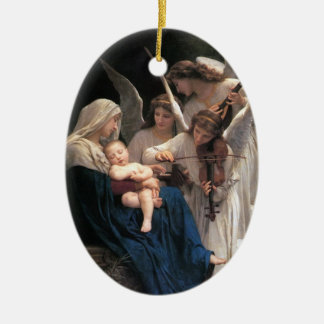 """""""Song Of The Angels"""" Christmas ornament Ceramic Oval Ornament"""