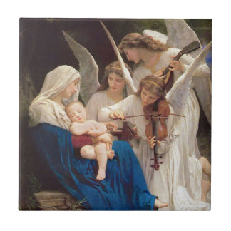 Song of the Angels Christmas Small Square Tile