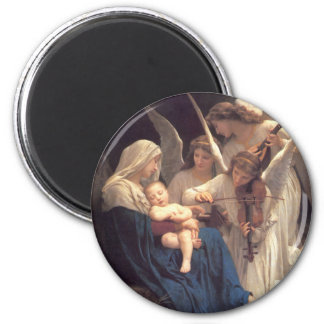 Song of the Angels - William-Adolphe Bouguereau 6 Cm Round Magnet