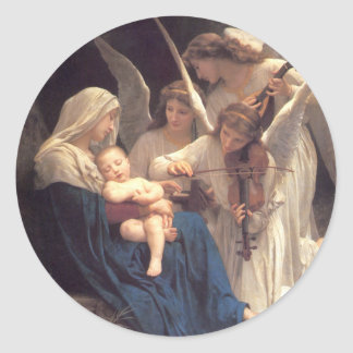 Song of the Angels - William-Adolphe Bouguereau Classic Round Sticker