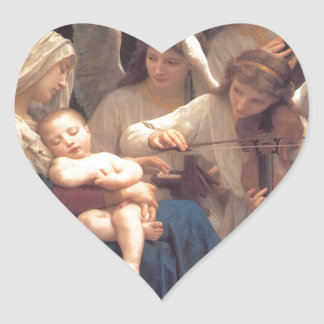 Song of the Angels - William-Adolphe Bouguereau Heart Sticker