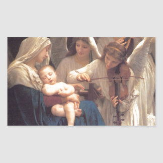 Song of the Angels - William-Adolphe Bouguereau Rectangular Sticker