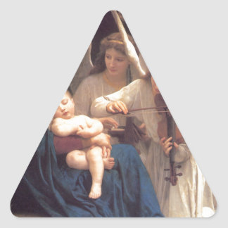 Song of the Angels - William-Adolphe Bouguereau Triangle Sticker