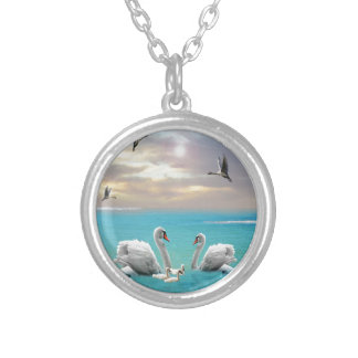 Song Of The White Swan, Silver Plated Necklace