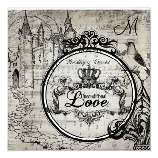 Song Pages Unconditional Love Wedding Invite
