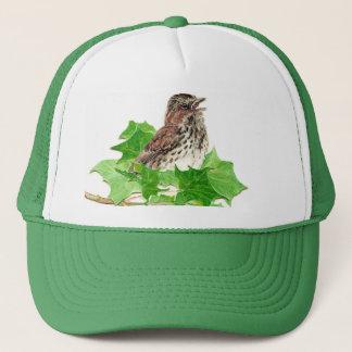 Song Sparrow, Cute Bird, Birder, Nature Trucker Hat