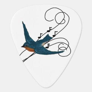 Songbird, Bluebird and Musical Notes Guitar Pick