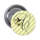 Songbird Initial C 6 Cm Round Badge