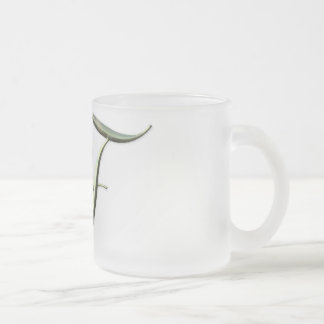 Songbird Initial F Frosted Glass Coffee Mug