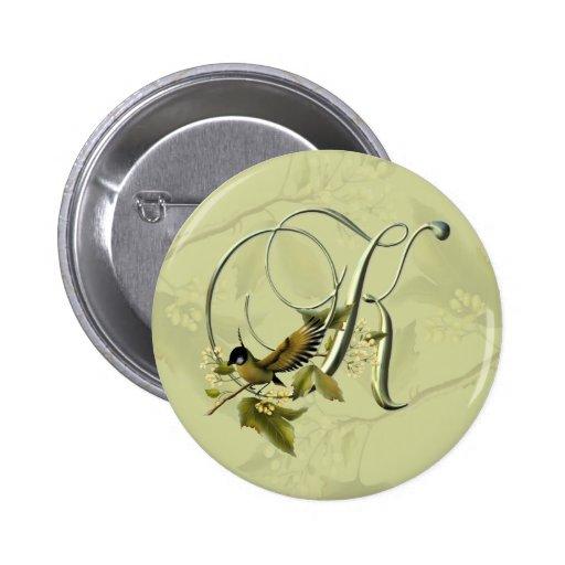 Songbird Initial K 6 Cm Round Badge