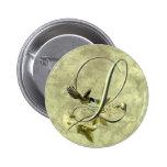 Songbird Initial L 6 Cm Round Badge