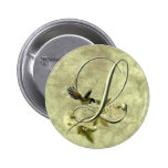 Songbird Initial L Pinback Buttons