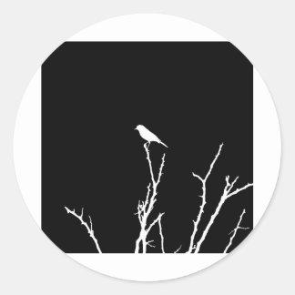 Songbird Night Round Sticker