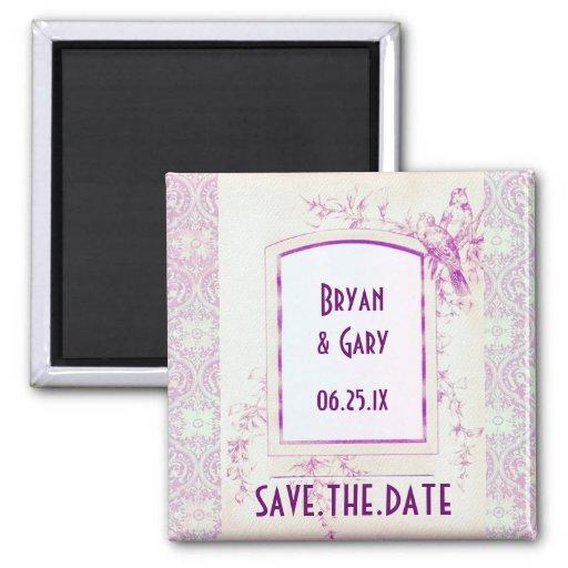 Songbird Shabby Chic WEDDING Save The Date Fridge Magnets