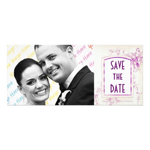 Songbird Shabby Chic WEDDING Save The Date Personalized Rack Card