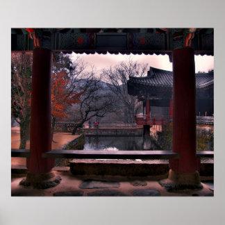 Songgwangsa Reflecting Pool, South Korea Poster