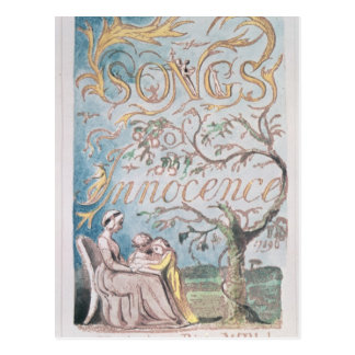 Songs of Innocence; Title Page, 1789 Postcard