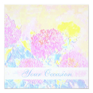 """Songs of Life/ All Occasion Floral Custom Invite 5.25"""" Square Invitation Card"""