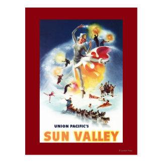 Sonja Henje Montage of Sun Valley Poster Postcard