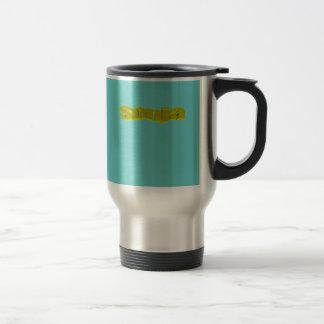 Sonja's travel mug in blue