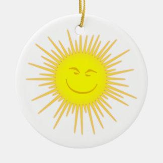 Sonne Gesicht sun face Weinachtsornamente