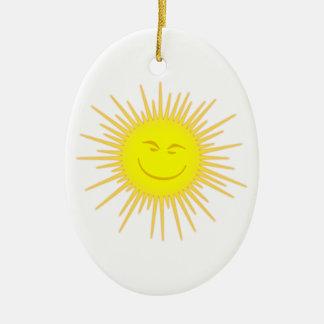 Sonne Gesicht sun face Weihnachtsbaum Ornament