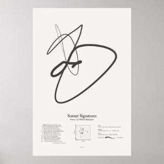Sonnet Signatures: Sonnet 1 Poster