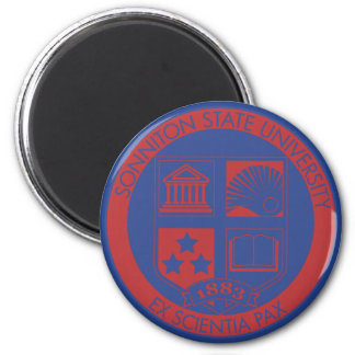 Sonniton State University Seal - Color 6 Cm Round Magnet