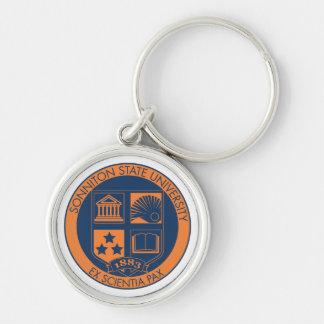 Sonniton State University Seal - Navy/Orange Key Chain