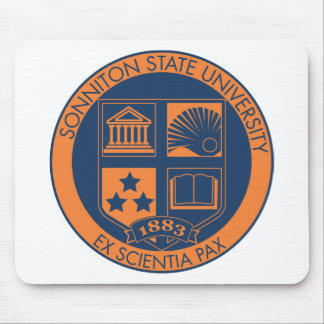 Sonniton State University Seal - Navy/Orange Mouse Pad