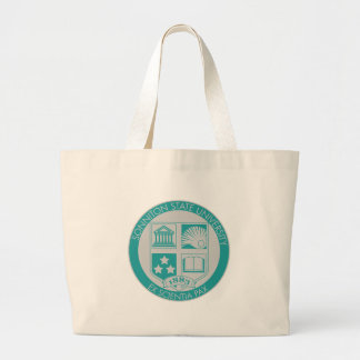 Sonniton State University Seal - Teal/Grey Canvas Bags