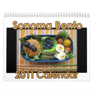 Sonoma Bento 2011 Calendar