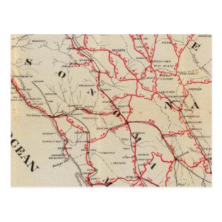 Sonoma, Marin, Lake, and Napa Counties Postcard