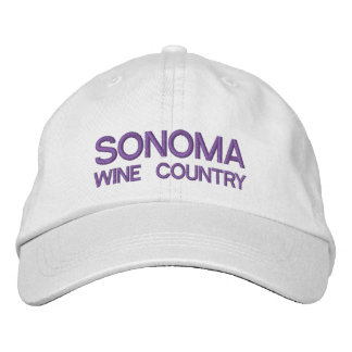 Sonoma wine Country Adjustable Hat