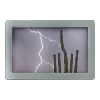 Sonoran Desert Monsoon Storming Belt Buckles