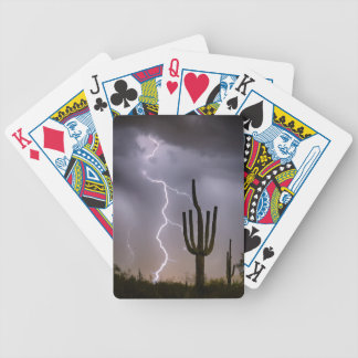 Sonoran Desert Monsoon Storming Bicycle Playing Cards