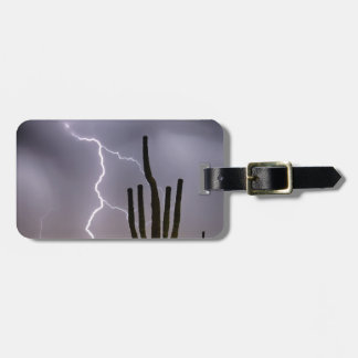 Sonoran Desert Monsoon Storming Luggage Tag